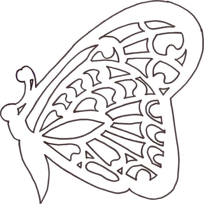 Шаблон Бабочки Для Вырезания Из Бумаги Скачать Бесплатно