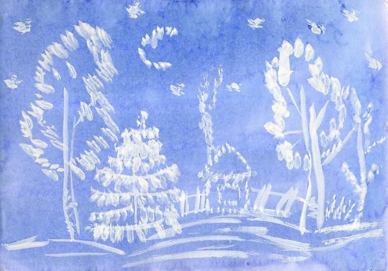 рисунок по изо на новый год