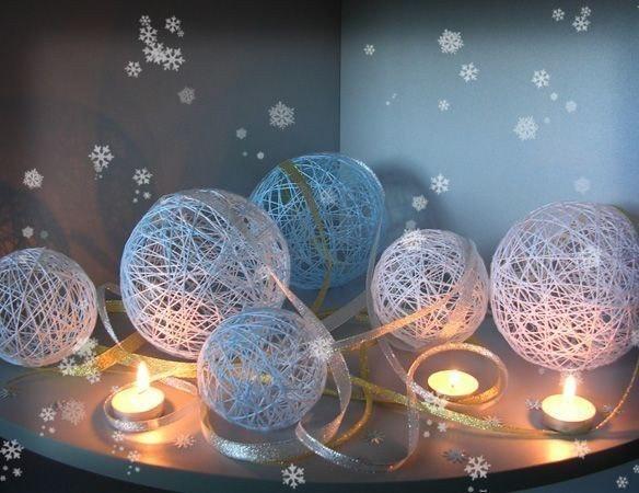 Урок технологии Новогодние шары из ниток технология поделки Новый год мастер класс