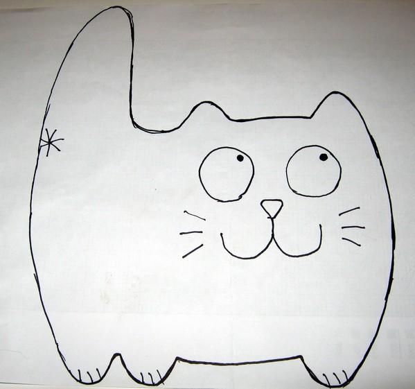 Выкройка кота из флиса