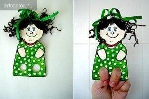 Творческая мастерская Пальчиковые куклы флис технология поделки мастер класс