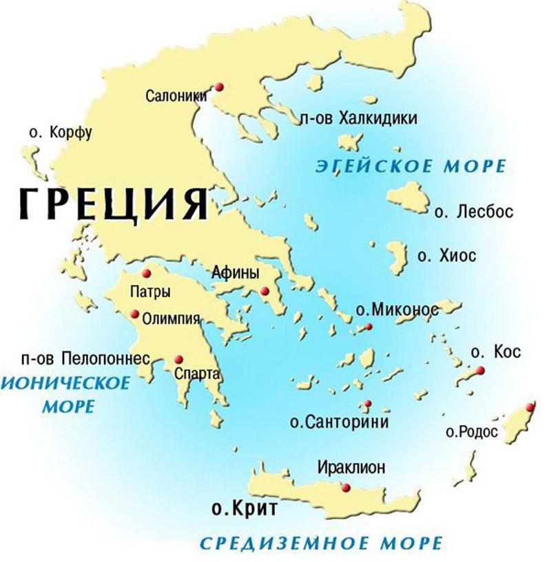 map grecia