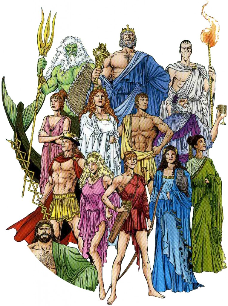 greeks gods and goddesses in the