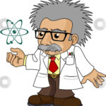 cutcaster-photo-100224252-Illustration-of-nutty-science-professor