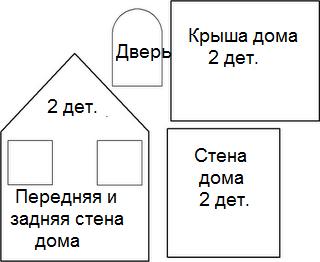 Схема домика из картона для детей своими руками шаблоны 69